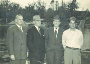 Dignitaries early const of Heman Talmadge Bridge