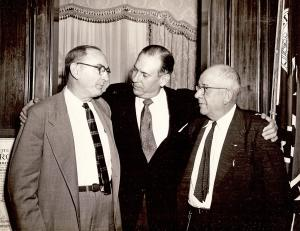 Dr. E. E. Moseley, Gov. Marvin Grififn, Rep. Raymond Wheeler
