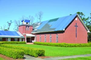 Nazarene church tarped